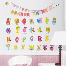 Removable English Alphabet Waterproof DIY Wall Sticker Kids Nursery Room Decor