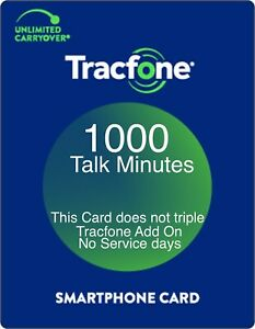 TracFone 1000 Talk Minutes Add On Refill Card for SmartPhone. Directly and Fast.