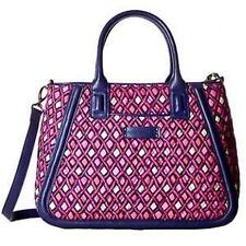 Vera Bradley Trimmed Trapeze Satchel in Katalina Pink Diamonds Bag New With Tag