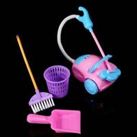 9pcs/set Kids Play House Cleaning Mop Broom Bucket Brush Pretend Toy P6T1