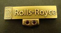 ROLLS ROYCE Lapel PIN Tie Gold Filled 10K Ruby Employee Service 1980s Tie Tack