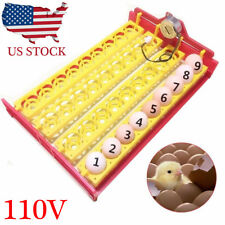 ☆ Automatic Egg Incubator 36 Eggs Turner Tray Chicken Quail Duck Bird Motor 110V