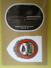 POSTCARD ISLE OF MAN ELECTRIC RAILWAY CAR 19 & TRAILER 41 IN 1939 LIVERY