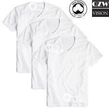 3-6 Pack Mens 100% Cotton Tagless Round V-Neck T-Shirt Undershirt Tee White S-XL