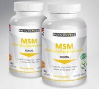 MSM 1000mg High Strength 2 x 180 Tablets Methylsulfonylmethane UK Futurevits UK