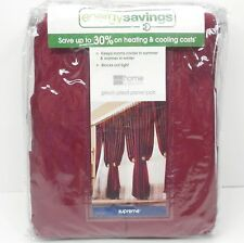JCPenney SUPREME DRAPES NEW Window Panel Set 50x108 NEW ORLEANS RED Pinch Pleat