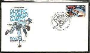 US SC # 2619 Olympic Baseball FDC. Artmaster Cachet