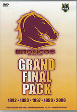 Brisbane Broncos - Grand Final Pack 1992 1993 1997 1998 & 2000 (5 DVD Set)
