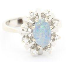 ♦♦ Ring in 14 kt 585er Weiß Gold mit Diamanten Diamantring Weißgold Gr. 54,5 ♦♦