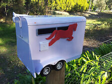 WHITE LETTERBOX HORSE FLOAT STYLE US style MAIL BOX MAILBOX INDICATOR NEW BIG