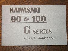 70 KAWASAKI 90 & 100 G SERIES G3SS-A G3TR-A GA1-A GA2-A NOS OEM RIDER'S MANUAL