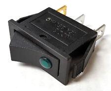 Lamptron Rectangular 250V AC Rocker Switch (Green LED)