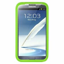 For Samsung Galaxy Note II Green Soft Rubber Silicone Skin Gel Case Cover