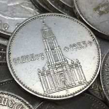 Rare WW2 German 1934 2 Reichsmark Garrison Church With Date Nazi Silver Coin