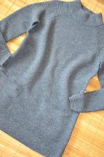 HALLHUBER wunderschöner Long Pullover Tunika Gr. XL 44 neu Wolle & Kaschmir Grau