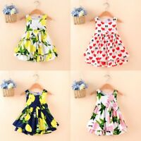 Fashion Kid Baby Girl Dress Toddler Flower Tutu Princess Dress Party Beach Dress