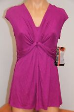 NWT Miraclesuit Knits Top Size M Purple Wine