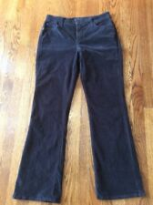 NYDJ Womens Corduroy Pant Black Straight Size 12 34x32 Lift & Tuck Technology