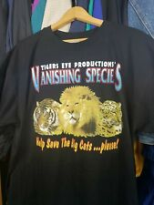 Vtg Jungle Cars Big Cats Lion Shirt Save The Species Sz Xl