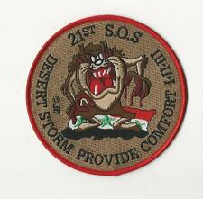 US AIR FORCE PATCH - 21ST SOS - DESERT STORM PROVIDE COMFORT I II III - DEVIL