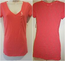 """NWT VICTORIA""""S SECRET BLOUSE LACE BACK SIZE SMALL COLOR RED"""