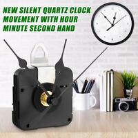 Quartz Wall-Clock Movement Mechanism Hands DIY Repair Tool Parts Kit 1.5 V Black