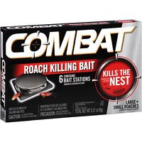 Combat MAX 6 ROACH KILLING BAIT STATION Kills The Nest LARGE & SMALL ROACHES