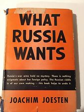 Vintage Book-What Russia Wants-1944