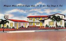 MORGAN'S MOTEL El Cajon Blvd San Diego, California Roadside Postcard ca 1950s