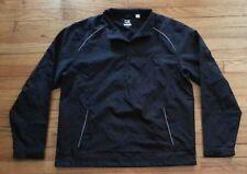 Cutter & Buck Jacket CB WeatherTec XL Solid Black Reflective Strips c1391