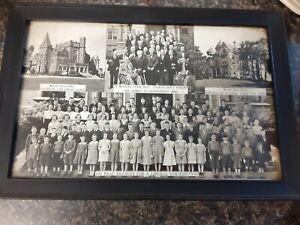"Vintage Framed Photos The Homes at Springfield Ohio Pythian Pythias 12""x8"""