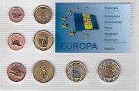 MADEIRA 8 DIF UNC SET 1 CENT - 2 EURO 2007 YEAR PATTERN ESSAI PROVA