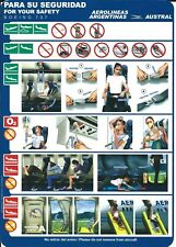 Safety Card - Aerolineas Argentinas - Austral - B737  (S4042)
