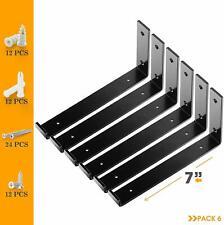 "Lip Shelf Brackets 7"" x 6"" (6pcs) Heavy Duty Brackets for Shelves - Us Stock"