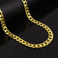 """24"""" Mens Stainless Steel 10mm 18K Gold Plated Cuban Link Chain Necklace #NL17"""