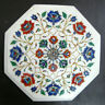 12 Inches Marble Inlay Coffee Table Top Pietra Dura Art Stone Side Table