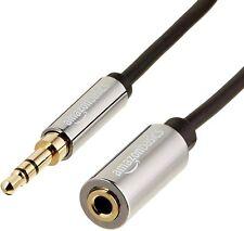 AmazonBasics 3.5mm Male to Female Jack Stereo Audio Cable - 12 Feet