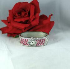 Denacci Pink Rhinestone Bracelet Watch CAT RESCUE
