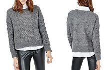 e670959324a215 Maje Marcel Cable Knit Sweater 1 Small