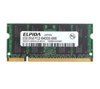Elpida 2GB 2 GB PC2-6400 DDR2-800MHz Memory For Dell Latitude D530 531 D620 D630
