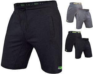 RDX Boxe Fleece Shorts MMA, Gym Bottoms Mens Sports Gym Pants Boxing Running
