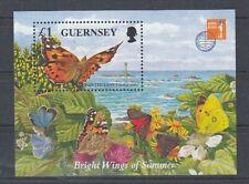 Guernsey Block 18 Butterflies (MNH)