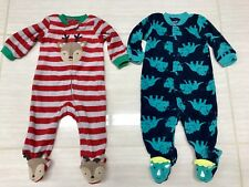 Just One You by Carters Infant Baby Boys Holidays X-Mas Footies Sleeper 6M  2Pc d30536396