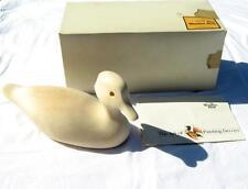 Vintage Wooden Bird Factory Decoy Wood Duck Drake Kit Unpainted Burnsville MN