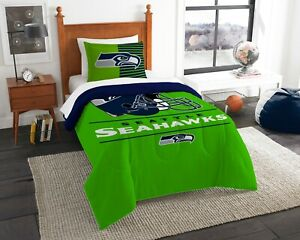 Seattle Seahawks Bedding Twin (Draft) OFFICIAL NFL