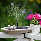 Solar Powered Water Feature Pump Floating Garden Pond Bird Bath Fountain Decor