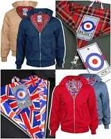 Mens Harrington Jacket Mod Classic Coat Bomber Vintage Scooter Size 3XS - XXXXXL