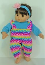 Bitty Twins Baby Girl Doll Clothes Outfit Top Overall Headband American Girl