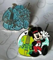 Mickey Mouse and Chaser Musicians 2019 Hidden Mickey DLR Disney Pin Set