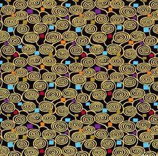 Intrigue Confetti Spirals Chong-A Hwang Fabric Timeless Treasures 1/2 Yard